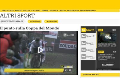 Telenet UCI Cyclocross World Cup, il punto RAI su Fiuggi