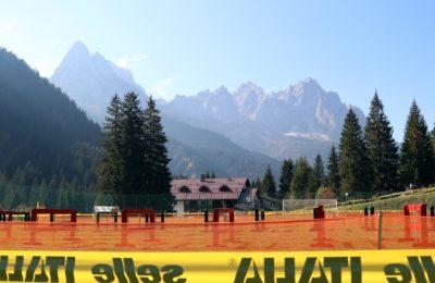 Il percorso immerso tra le Dolomiti