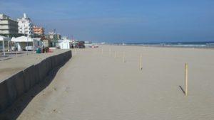 Il tratto sulla sabbia di Senigallia