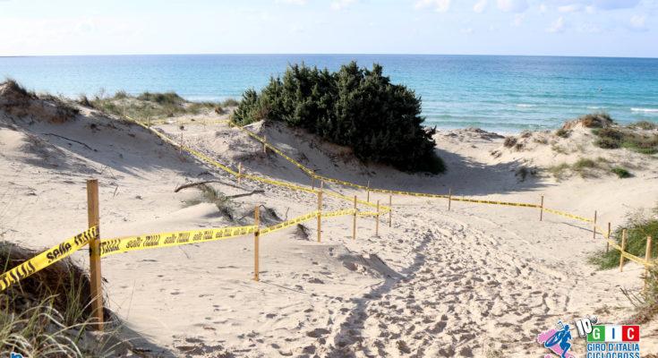Il percorso con le dune