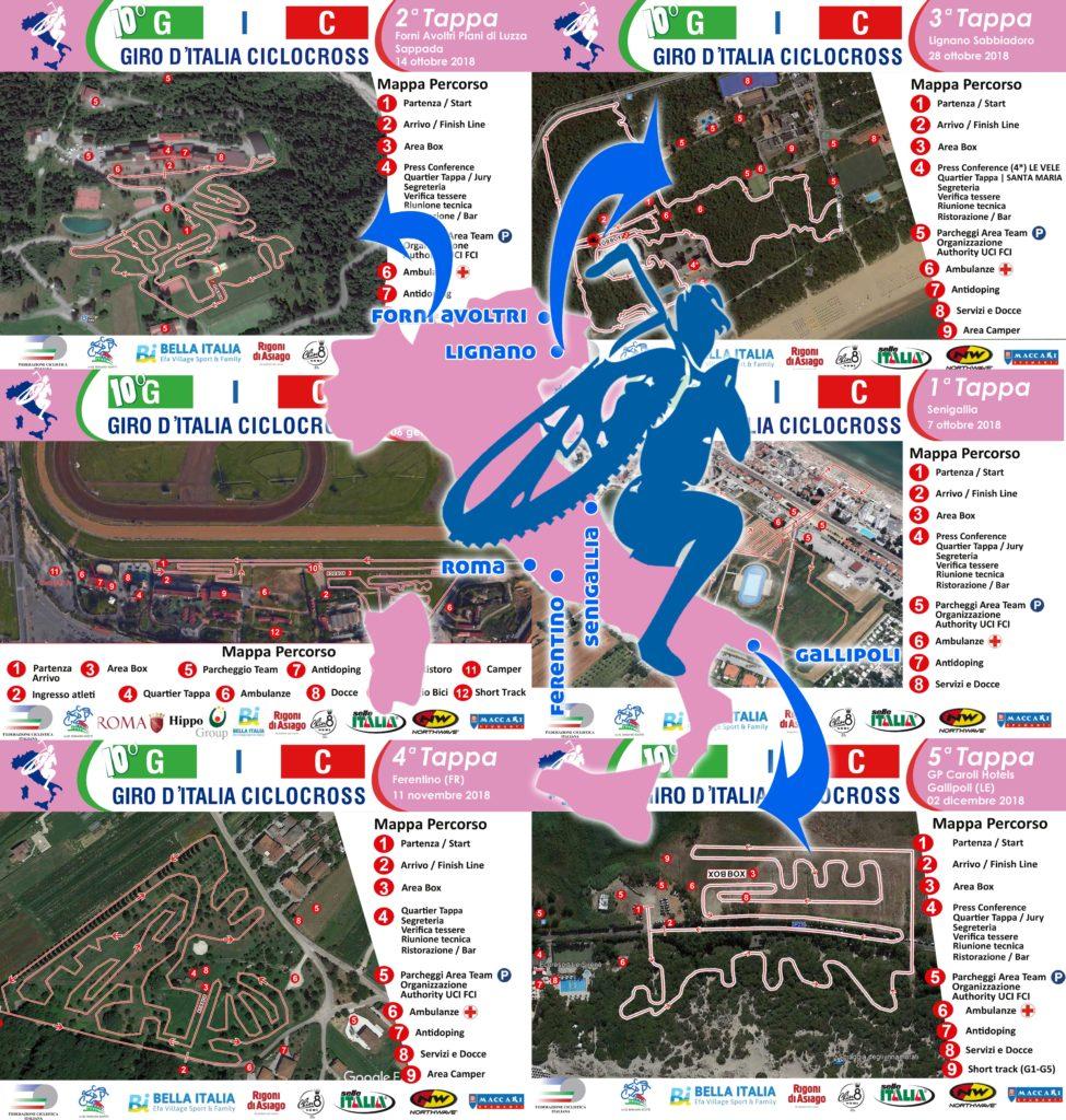 Collage dei percorsi del 10° GIC