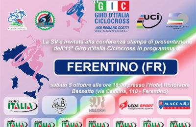 L'invito ufficiale alla conferenza stampa di Ferentino