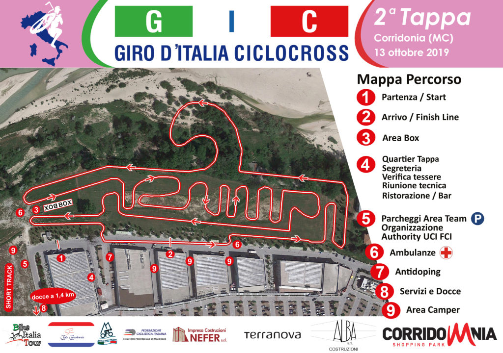 La mappa del percorso di Corridonia c/o Corridomnia Shopping Center