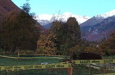 Le Alpi circondano il percorso di Cantoira